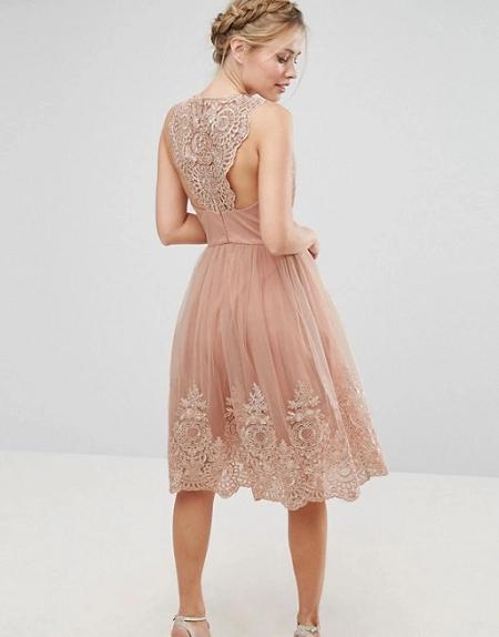 Платье с кружевами 2018