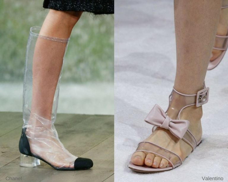 Полностью прозрачная обувь
