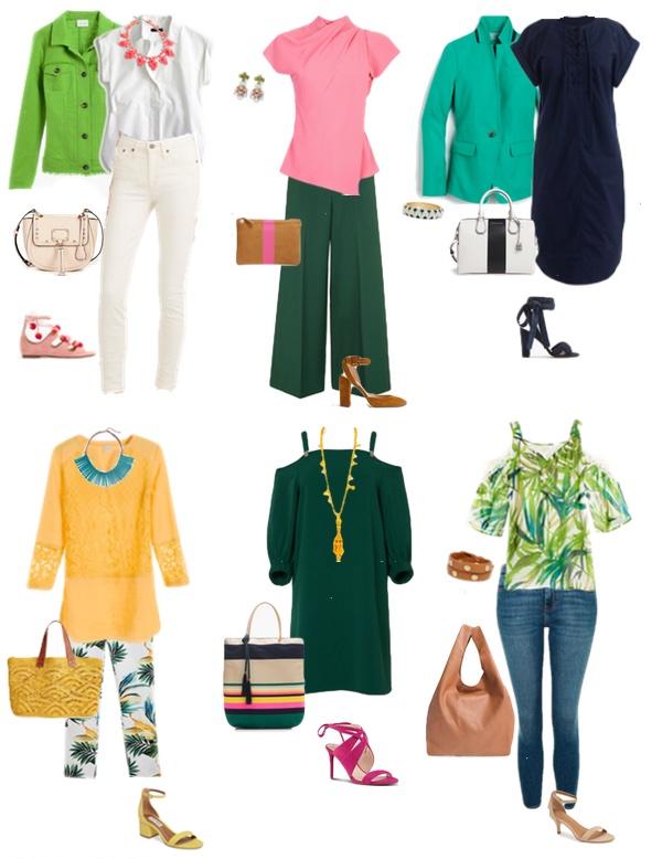 С чем носить зеленый цвет летом 2018?
