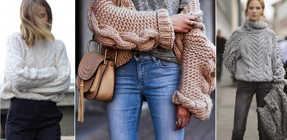 f2db5c331d1 вязаный женский свитер. Модные узоры крупной вязкой ...