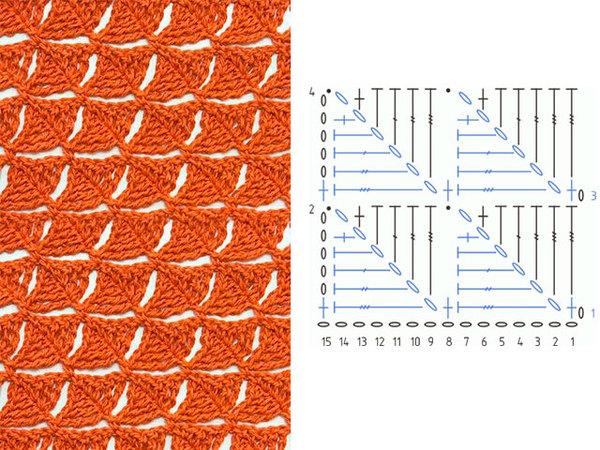 Узор для вязания крючком схема 1