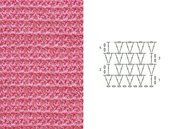 Узор для вязания крючком схема 2
