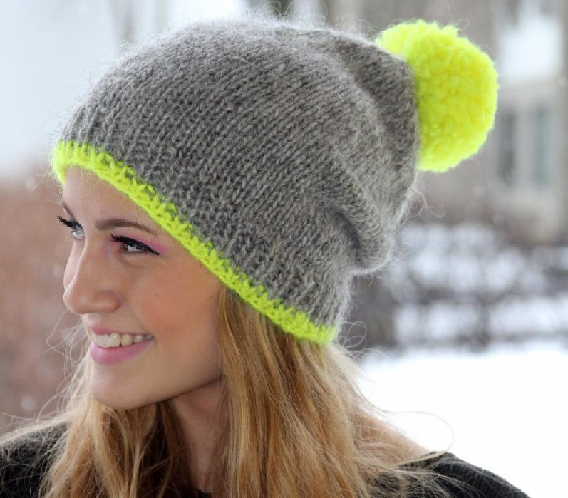 вязание спицами шапку резинкой для женщин