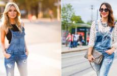 С чем носить комбинезон (джинсовый, слитный, шорты) в 2019 году