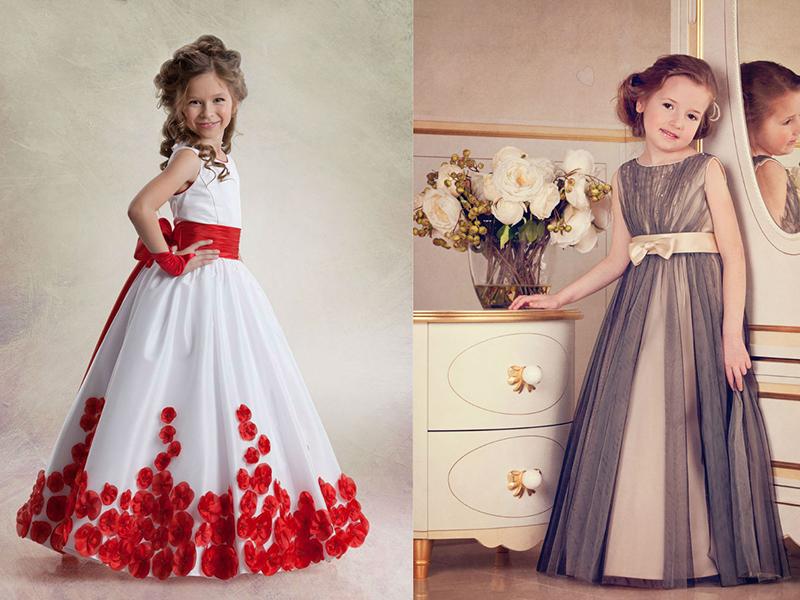 Выпускное платье А-силуэта для девочек