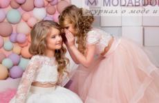 Выпускные платья для девочек в детском саду и на выпускной в начальной школе  в 2018 году
