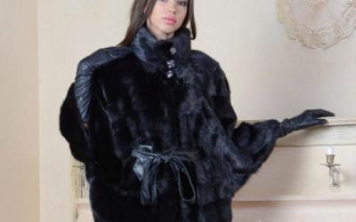 Пончо из норки (норковое пончо): модели и стильные образы на фото