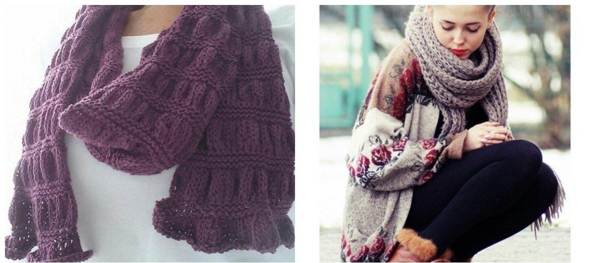 Вязаный шарф 2019