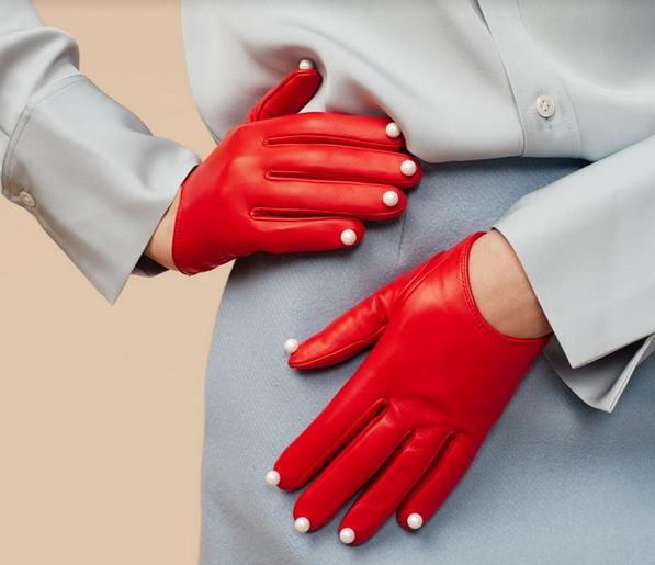 Женские кожаные перчатки 2018-2019