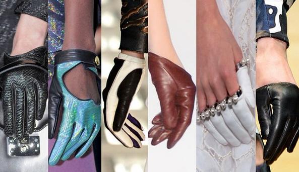 Кожаные перчатки 2018-2019