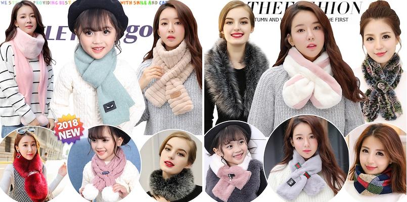 Меховой шарф 2019 фото