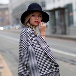 Женское пальто в клетку 2018: с чем носить модные модели сезона
