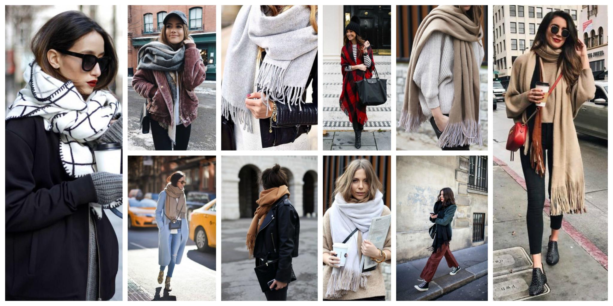 Модный шарф 2019