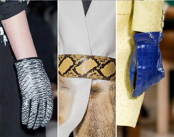 кожаные перчатки под рептилию 2018-2019