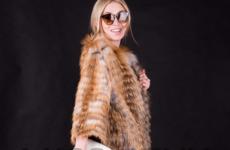 Меховое пальто на трикотажной основе