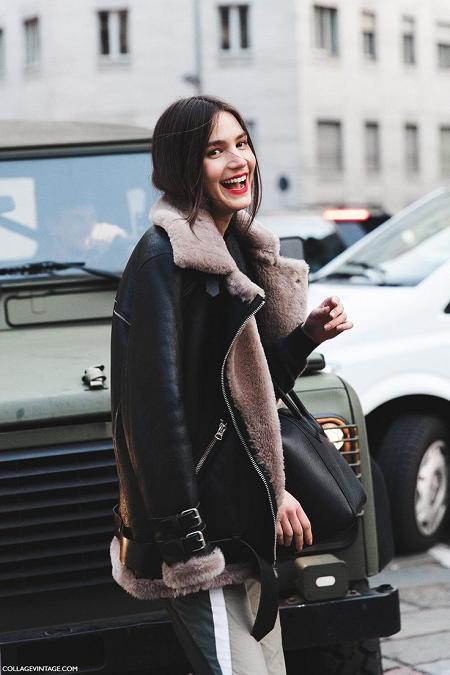 Женская куртка- дубленка фото