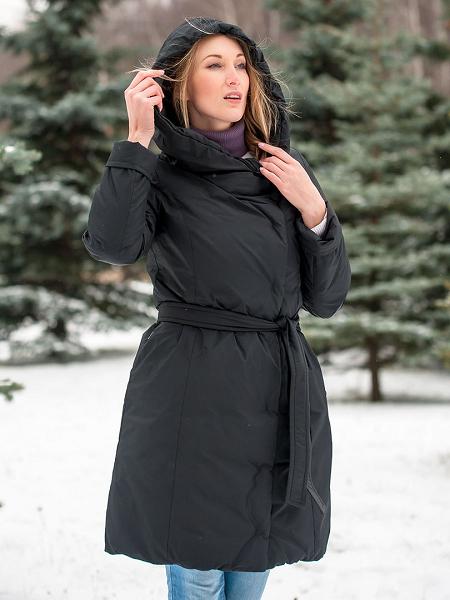 Модное пальто-пуховик