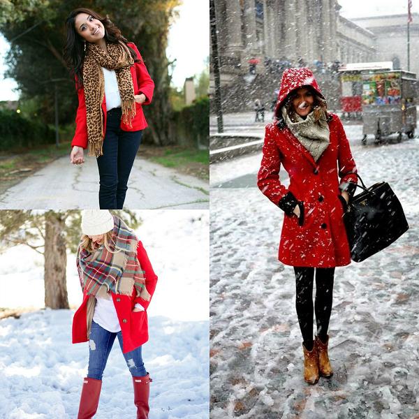 Обувь под красное пальто
