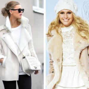 Белая дубленка — новый тренд предстоящего сезона