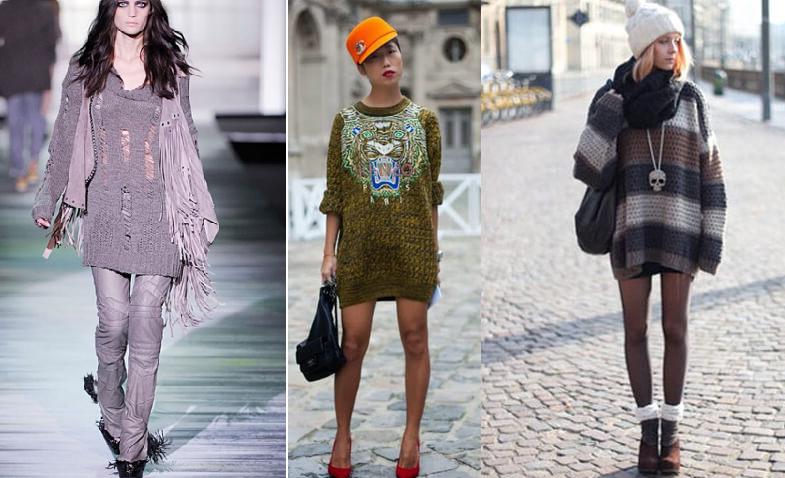 Модные вязаные платья