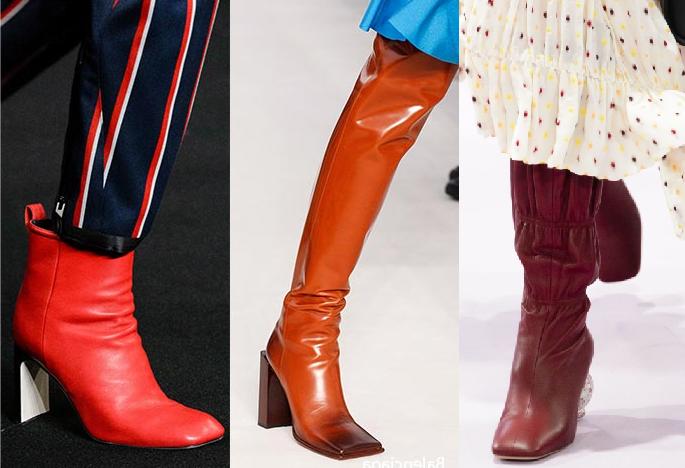 Модные сапоги осень-зима 2018-2019
