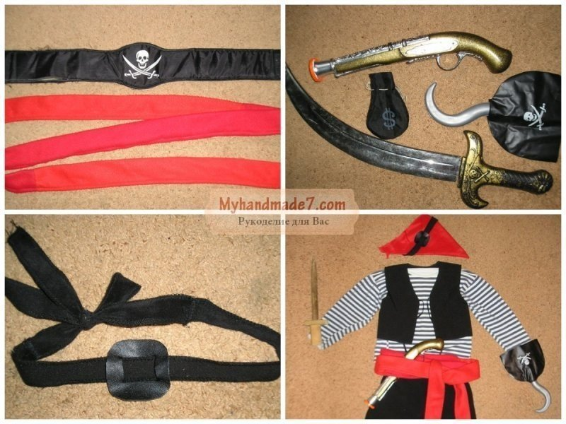 Новогодний костюм пирата своими руками