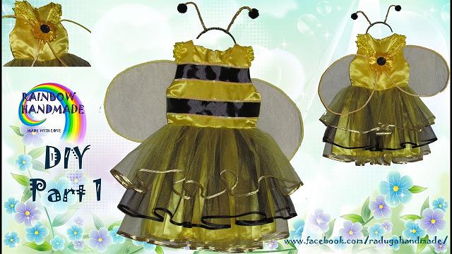 Новогодний костюм пчелки для девочки