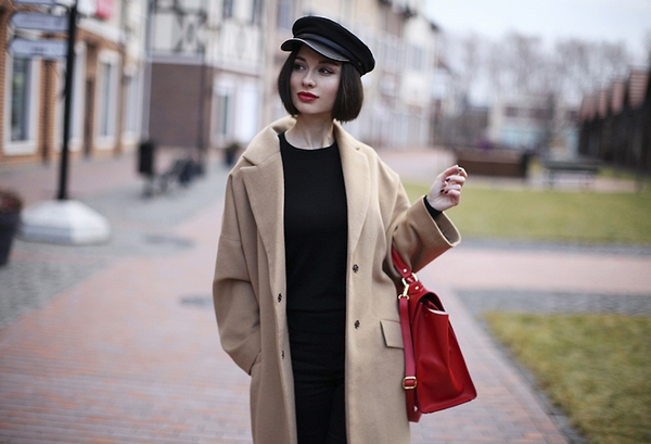 С чем носить женское пальто из кашемира фото