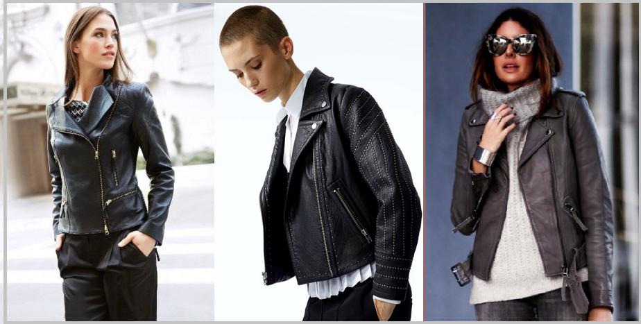 Женские кожаные куртки на осень 2018 и фото стильных моделей курток ... 3bd10527b5f