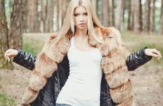 Шуба с кожаными рукавами: особенности моделей