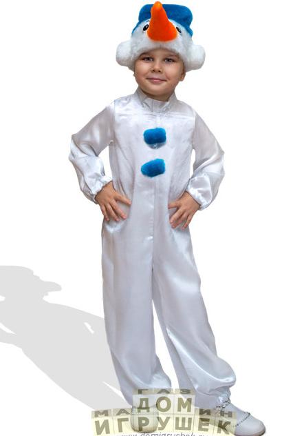 Новогодний костюм снеговика своими руками