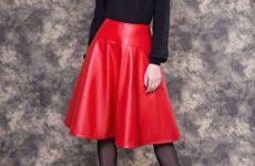 Кожаная юбка — модная тенденция осени 2018