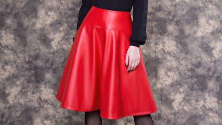 Кожаная юбка — модная тенденция 2020