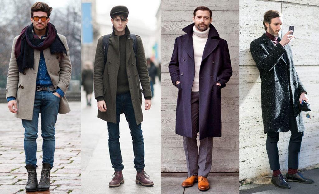 Мужское пальто на модели