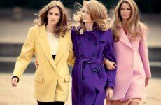 Женское шерстяное зимнее пальто