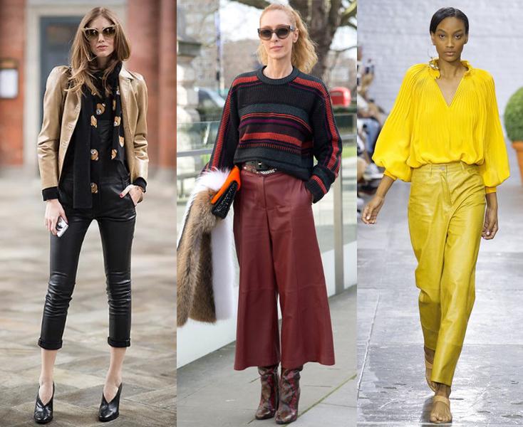 Фасоны кожаных брюк