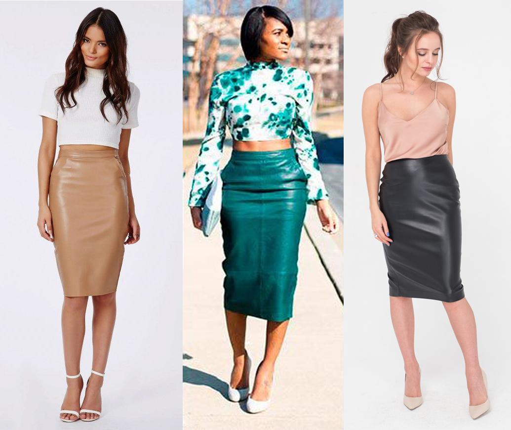 88d35301507 Кожаная юбка  какую выбрать и с чем сочетать
