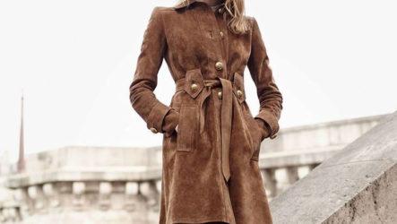 Замшевое пальто: фото, модные модели 2020-2021 года