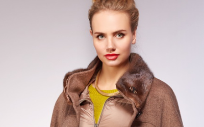 Пальто с мехом норки 2018-2019 (с норковым воротником, капюшоном, манжетами, рукавами)