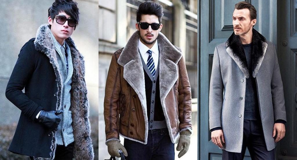 Мужское пальто с мехом