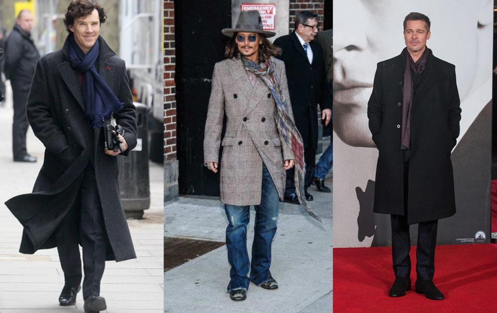 Знаменитости в драповом пальто
