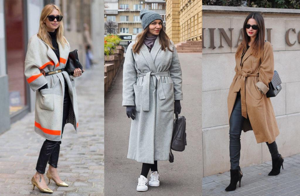 Пальто-халат на модели