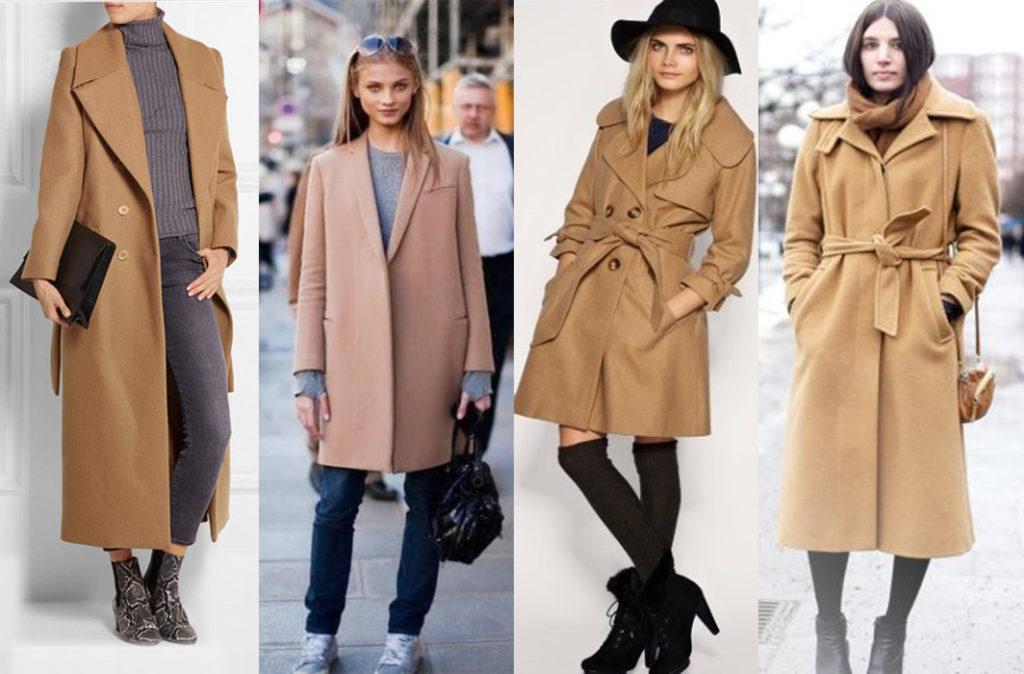 Пальто из шерсти верблюда