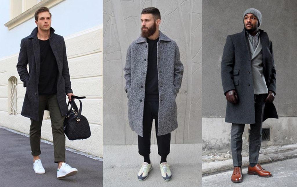 Мужское драповое пальто