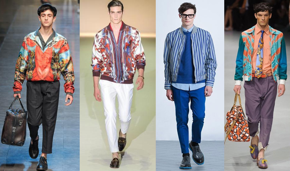 Мужские куртки-бомберы на модели