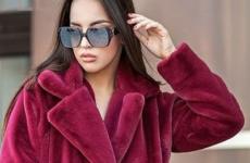 С чем носить норковую шубу модели кокон зимой 2018-2019 года?