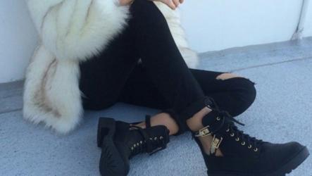 Ботинки с шубой — дуэт для смелых модниц!
