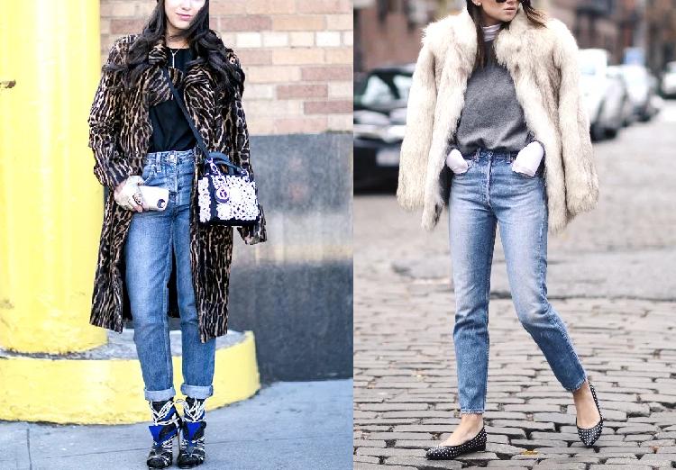 Шуба с джинсами фото