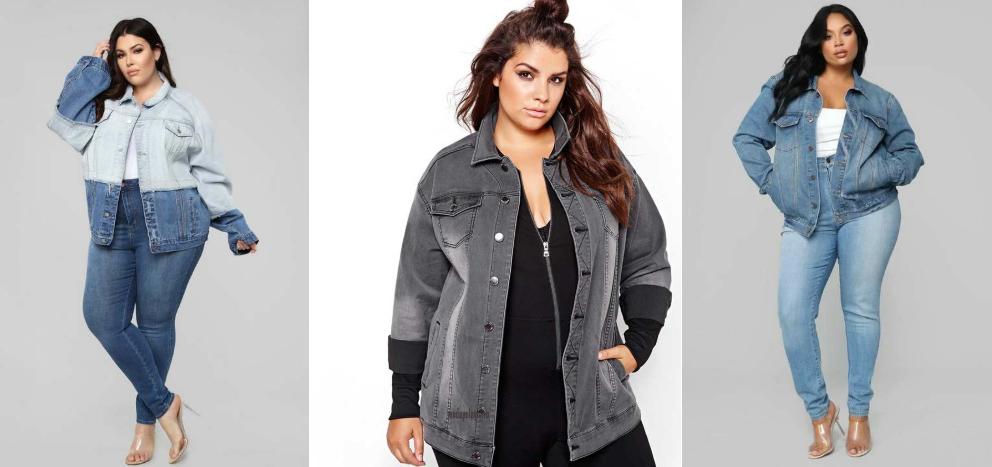 Джинсовые куртки для полных фото