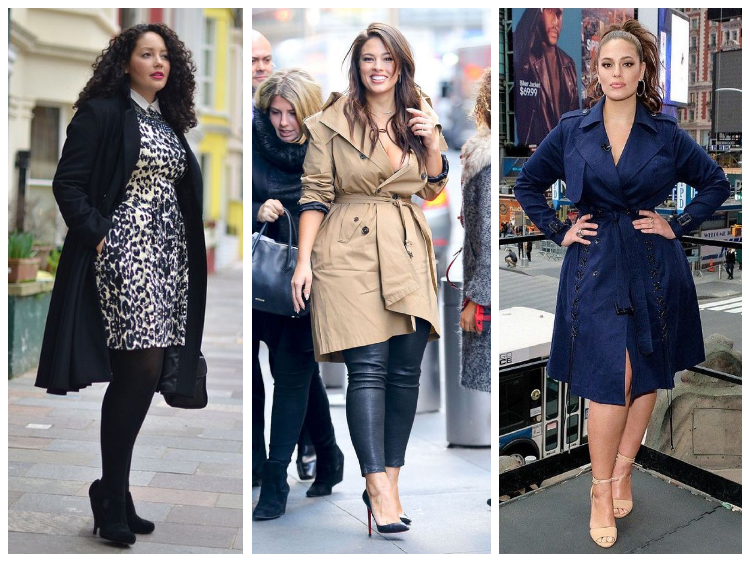 Фасоны пальто для полных девушек